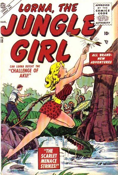 Cover for Lorna the Jungle Girl (Marvel, 1954 series) #18