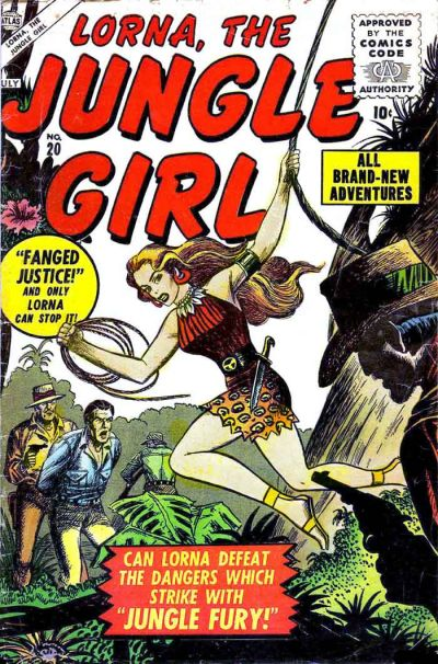 Cover for Lorna the Jungle Girl (Marvel, 1954 series) #20