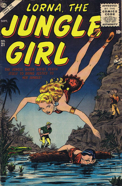 Cover for Lorna the Jungle Girl (Marvel, 1954 series) #21