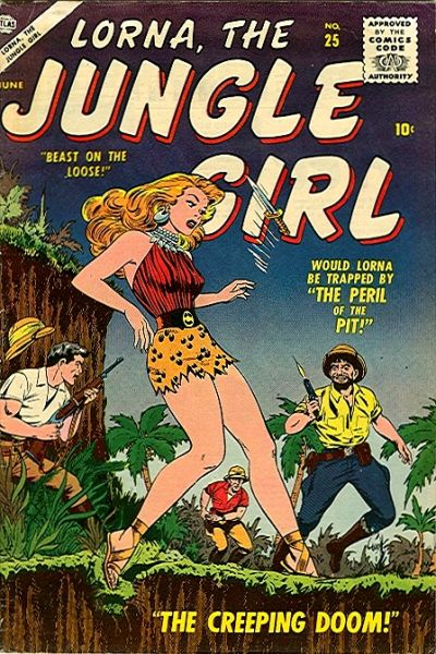 Cover for Lorna the Jungle Girl (Marvel, 1954 series) #25