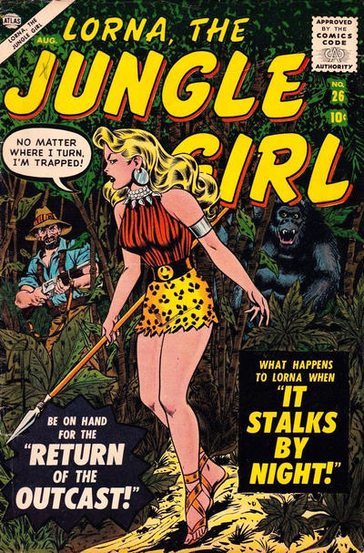 Cover for Lorna the Jungle Girl (Marvel, 1954 series) #26