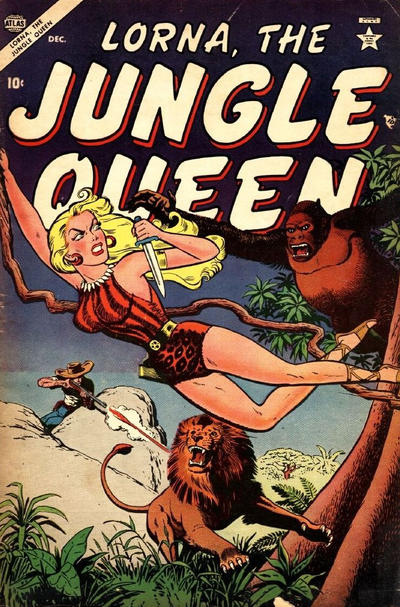 Cover for Lorna the Jungle Queen (Marvel, 1953 series) #4