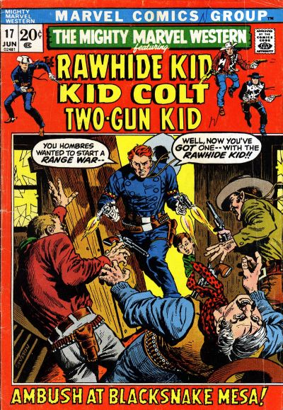Cover for The Mighty Marvel Western (Marvel, 1968 series) #17