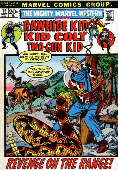 Cover for The Mighty Marvel Western (Marvel, 1968 series) #19