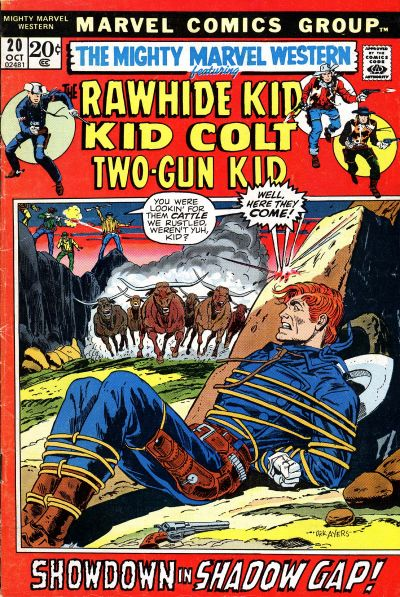 Cover for The Mighty Marvel Western (Marvel, 1968 series) #20