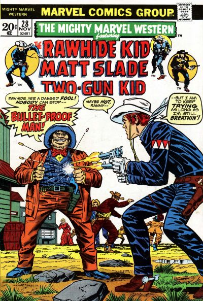 Cover for The Mighty Marvel Western (Marvel, 1968 series) #28