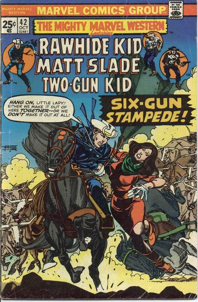 Cover for The Mighty Marvel Western (Marvel, 1968 series) #42