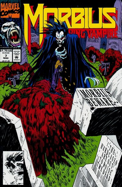 Cover for Morbius: The Living Vampire (Marvel, 1992 series) #7