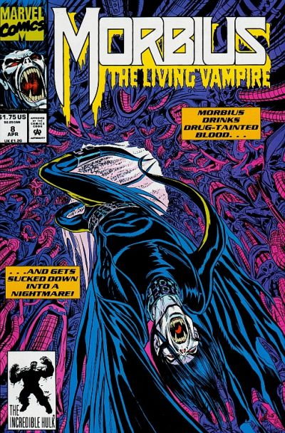 Cover for Morbius: The Living Vampire (Marvel, 1992 series) #8