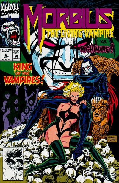 Cover for Morbius: The Living Vampire (Marvel, 1992 series) #9