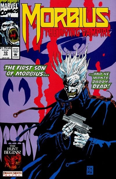 Cover for Morbius: The Living Vampire (Marvel, 1992 series) #10