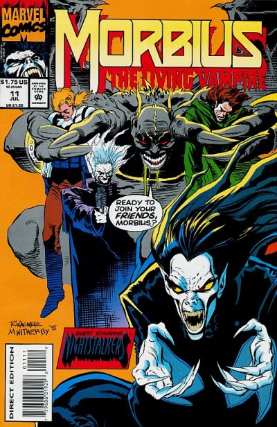 Cover for Morbius: The Living Vampire (Marvel, 1992 series) #11