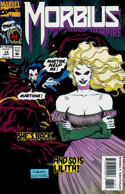 Cover for Morbius: The Living Vampire (Marvel, 1992 series) #13