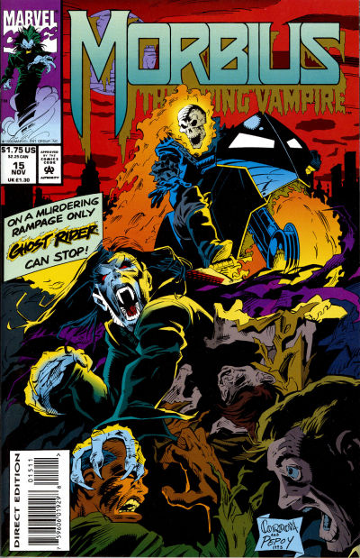 Cover for Morbius: The Living Vampire (Marvel, 1992 series) #15