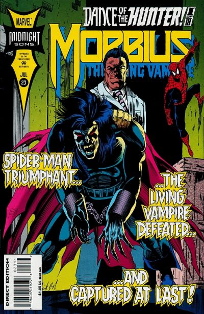 Cover for Morbius: The Living Vampire (Marvel, 1992 series) #23