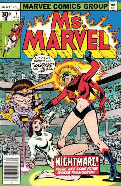 Cover for Ms. Marvel (Marvel, 1977 series) #7 [35 cent cover price variant]