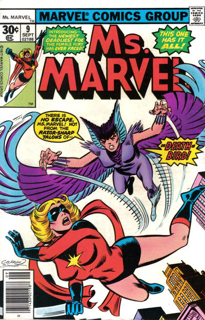Cover for Ms. Marvel (Marvel, 1977 series) #9 [35 cent cover price variant]