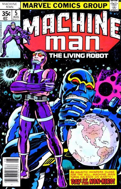 Cover for Machine Man (Marvel, 1978 series) #5 [Whitman]