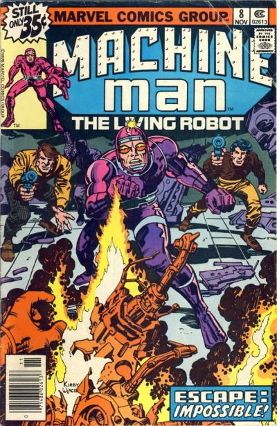 Cover for Machine Man (Marvel, 1978 series) #8