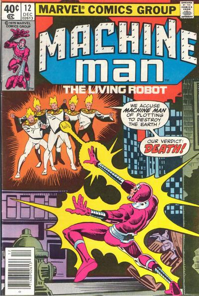 Cover for Machine Man (Marvel, 1978 series) #12 [Direct]
