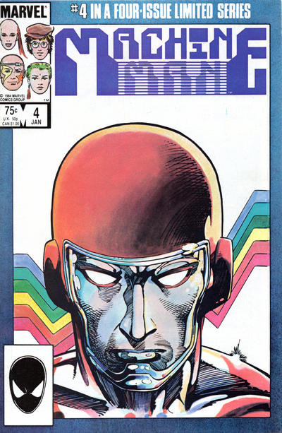 Cover for Machine Man (Marvel, 1984 series) #4 [Newsstand Edition]