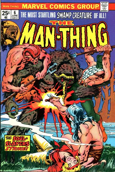 Cover for Man-Thing (Marvel, 1974 series) #6
