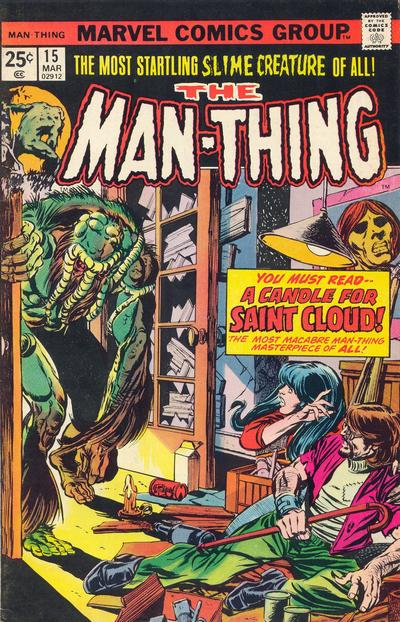 Cover for Man-Thing (Marvel, 1974 series) #15