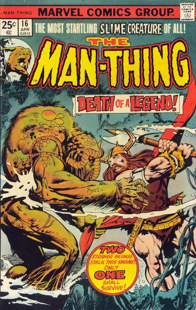 Cover for Man-Thing (Marvel, 1974 series) #16 [British price variant.]