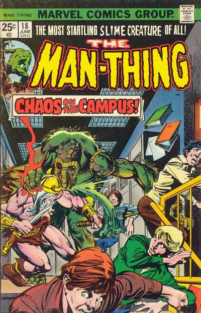 Cover for Man-Thing (Marvel, 1974 series) #18 [Regular]