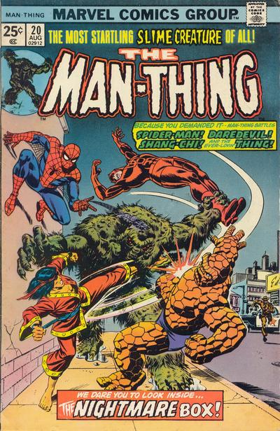 Cover for Man-Thing (Marvel, 1974 series) #20 [Regular]