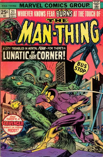 Cover for Man-Thing (Marvel, 1974 series) #21 [British price variant.]
