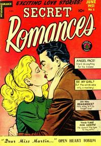Cover for Secret Romances (Superior Publishers Limited, 1951 series) #2