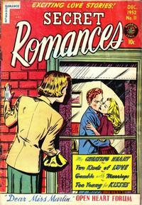 Cover Thumbnail for Secret Romances (Superior Publishers Limited, 1951 series) #11