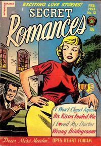 Cover Thumbnail for Secret Romances (Superior Publishers Limited, 1951 series) #12