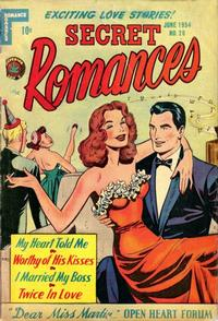 Cover Thumbnail for Secret Romances (Superior Publishers Limited, 1951 series) #20