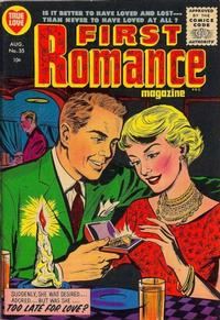 Cover Thumbnail for First Romance Magazine (Harvey, 1949 series) #35