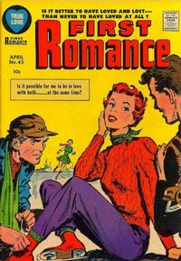 Cover Thumbnail for First Romance Magazine (Harvey, 1949 series) #45