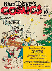 Cover Thumbnail for Walt Disney's Comics and Stories (Dell, 1940 series) #v1#4 [4] (Complimentary Copy)