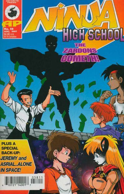 Cover for Ninja High School (Antarctic Press, 1994 series) #58