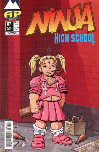 Cover for Ninja High School (Antarctic Press, 1994 series) #67
