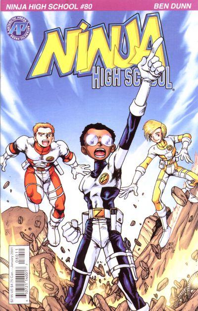 Cover for Ninja High School (Antarctic Press, 1994 series) #80
