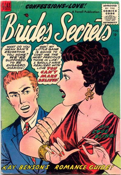 Cover for Bride's Secrets (Farrell, 1954 series) #9