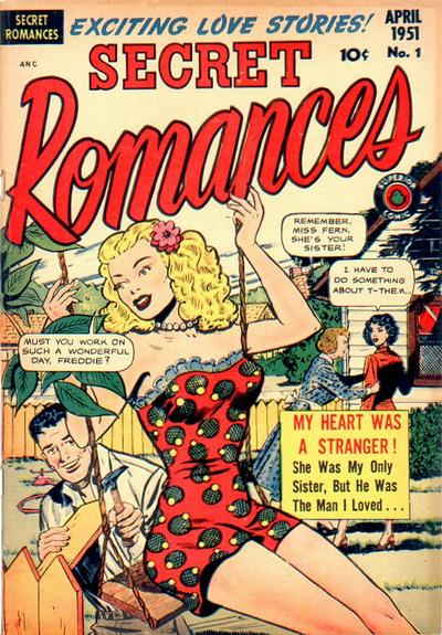 Cover for Secret Romances (Superior Publishers Limited, 1951 series) #1