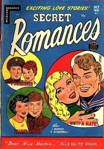 Cover for Secret Romances (Superior Publishers Limited, 1951 series) #4