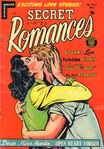 Cover for Secret Romances (Superior Publishers Limited, 1951 series) #6