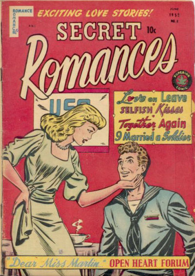 Cover for Secret Romances (Superior Publishers Limited, 1951 series) #8