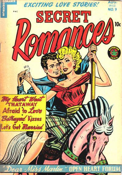 Cover for Secret Romances (Superior Publishers Limited, 1951 series) #9