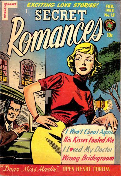 Cover for Secret Romances (Superior Publishers Limited, 1951 series) #12