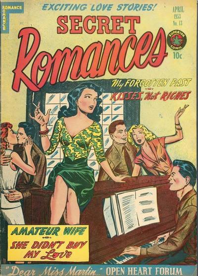 Cover for Secret Romances (Superior Publishers Limited, 1951 series) #13