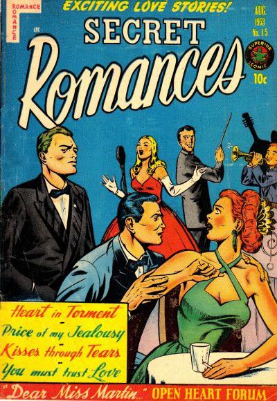 Cover for Secret Romances (Superior Publishers Limited, 1951 series) #15
